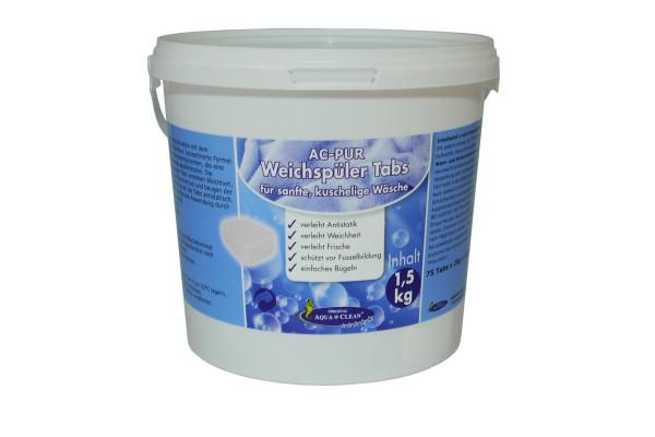 AQUA CLEAN PUR Weichspüler Tabs für sanfte, kuschelige Wäsche 75 Stück